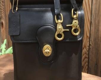 Coach Bag / Vintage Coach Murphy Bag /  Coach Crossbody / Quality Black  Leather / USA / PRISTINE / Style 9930