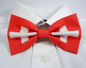 Swiss Flag Bow Tie
