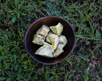 GREEN OPAL - genuine gemstone healing crystals raw rough rocks stones
