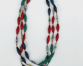 Large multi colored necklaces