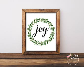 Christmas Joy Printable Instant Download