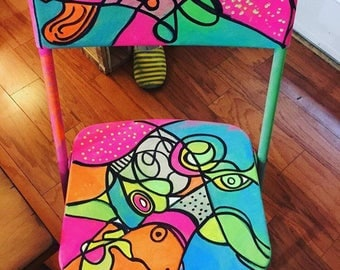 Floresent folding desk chair