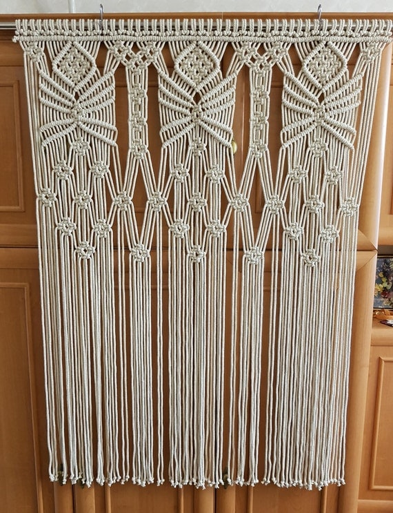 Macrame Wall Hanging Hippie Curtain Macrame Curtain Boho