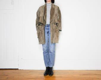 80s Soft Suede Jacket / Size Medium