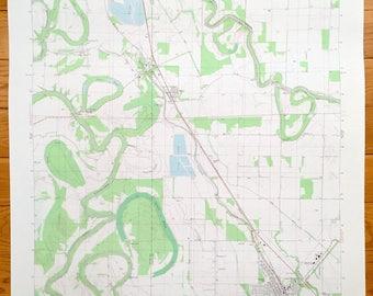 Antique Mcgehee Arkansas 1981 Us Geological Survey Topographic Map Tillar Reed Drew