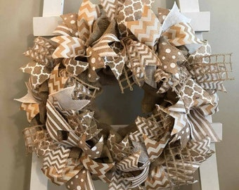 Every Day Wreath, Front Door Wreath, Burlap Wreath, Beach Wreath, Summer Wreath