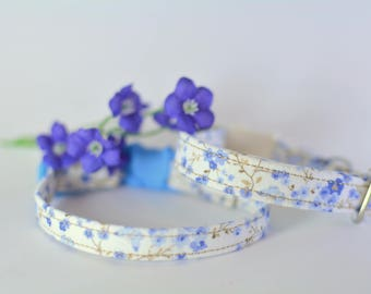 Floral cat collar breakaway, kitten collar, cotton cat collars, breakaway collar cat, floral ckitten collar, cat collar breakaway