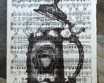 Vintage sheet music art