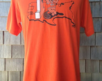 Vintage 80s Oregon State Beavers basketball T Shirt - Large - University 1980