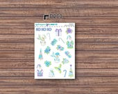 Frosty Deco Stickers | ECLP | Happy Planner | Recollections Planner