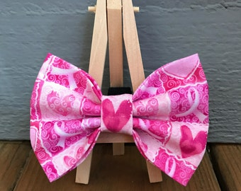 Breast Cancer Awareness Dog Bow Tie