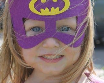 Lego Batgirl cape and mask, purple batgirl, lego batman movie, girls superhero cape, gifts for girls, girls dress up, batgirl birthday party