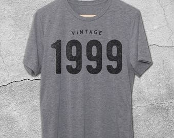 18th Birthday Gift For Her and Him  - VINTAGE 1999 tee shirt - T-Shirt - Birthday tshirt -18th bday - 18th Birthday gifts for men - 1999