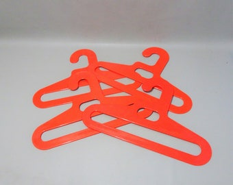 4 rare retro coat hanger clothing carriers-years 60-orange-gift man woman-retro lovers-vintage-collectable