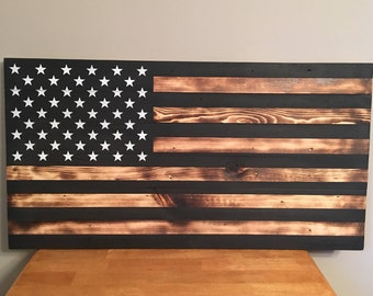 Wood american flag Etsy