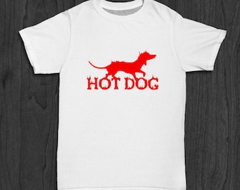 Hot Dog T-shirt for Men - Dog Pun Shirt - Dachshund Pun Tee - Funny T-shirts for Him - Gifts for Dad - Puppy Shirt - Dog Owner Tee