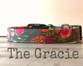 DOG COLLAR, Dog Collars, The Gracie, Dog Collars, Dog Collars for Girls, Romantic, Floral, Boho