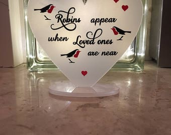 12 cm heart with quote