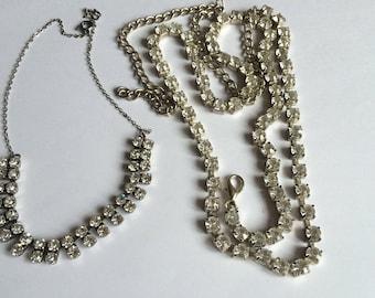 Crystal necklace & belt