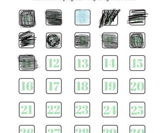 30 Days to a New Habit Tracker Worksheet (PRINTABLE - INSTANT DOWNLOAD): Self Care • Productivity • Habit Planner • Mental Health Planner