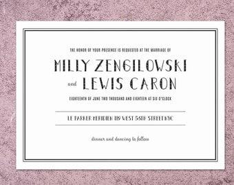 Minimalist Wedding Invitation | Modern Wedding Invite | Modern Invitation | Simple Wedding Invite | Simple Invitation | Minimalist Invite