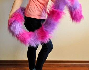 Handmade Cheshire Cat Tail. Furry. Fursuit Tail