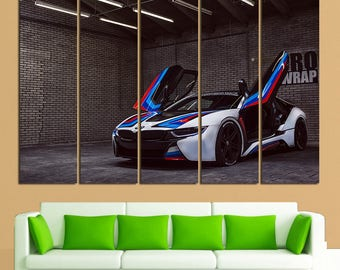 BMW BMW I8  Print I8 Canvas bmw Photo bmw wall art Top Gear I8 Photo bmw Wall Decor Sport Car bmw Art bmw Print bmw i8 Poster Sport Car