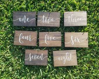Wooden Table Numbers, Table Numbers, Wedding Table Numbers, Table Decor, Rustic Table Numbers, Wedding Reception Decor, Wedding Decor
