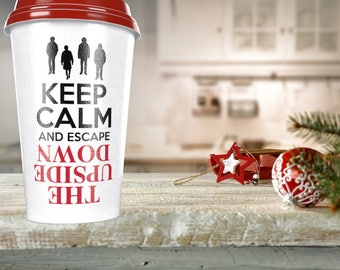 Keep Calm and escape the Upside Down DIGITAL file: SVG dxf eps - Great for fans put on shirt, coffee mug, gift, decal, home decor