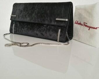 Salvatore Ferragamo Vintage Black Velvet Evening bag