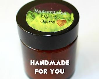 CUSTOM SKIN CREAM, organic cream, custom skin care, personalised, vegan lotion, face moisturiser, salve, all in one cream, made for me cream