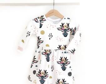 Dress baby girl Oh My Deer!  -Sweatshirt