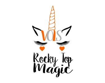 Tennessee-Vols-Volunteers-Unicorn-Rocky Top-Instant Download-Printable-SVG Files-Digital Download-Silhouette-Cut File-Cricut- Scrapbooking