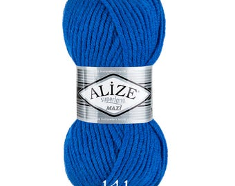 ALIZE SUPERLANA MAXI Blend acrylic wool warm yarn spring winter yarn hand knit yarn Wool Yarn acrylic yarn color choice big yarn