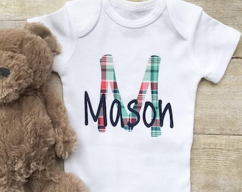 Monogrammed Onesie,Custom Onesie,Personalized Onesie,Baby Shirts,Newborn Onesie, Baby Boy Clothes,New Mom Gift,Baby Boy Bodysuit