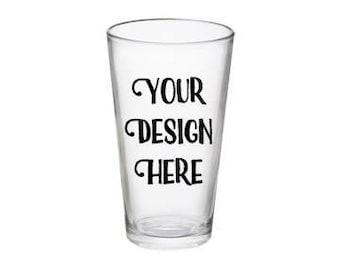 Custom Beer glass, Pint glass, Beer glass, Groomsman gift, bridesmaid glass, Personalized pint glass, teacher glass