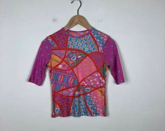 90s Mesh Top Size Small, 90s Pink Top