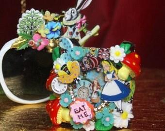 Set Of Alice In Wonderland Cuff Bracelet Bangle