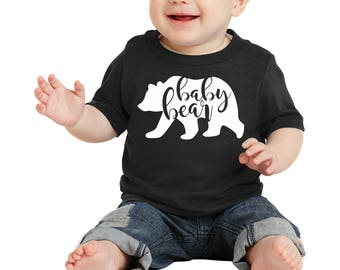 """100% Cotton """"Baby Bear"""" Infant Cotton Tee a RealLifeOutfits favorite family design. Goes with Papa, Mama, Brother, Sister & baby Bear"""