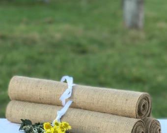 30 cm wide x 490 cm long Burlap  Table Runner ~ Suitable for Trestle/Banquet tables