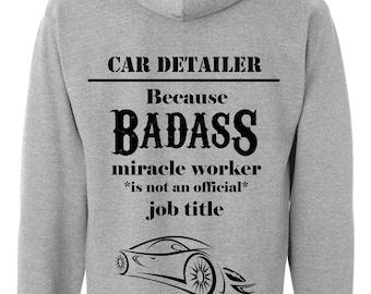 Novelty Car Detailer Funny Hoodie