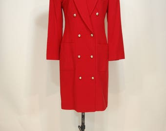 80s Full-length statement red jacket