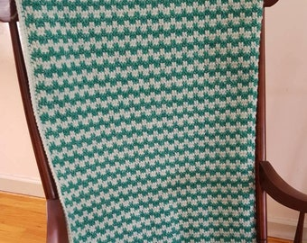 Wintergreen Crochet Blanket, Mint Green Blanket, Green Lapghan, Green Crochet Lap Blanket, Crochet Wheelchair Blanket