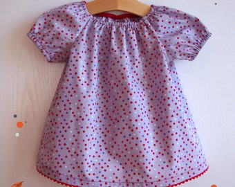 "Tunic for girls ""Three points"", short sleeves"