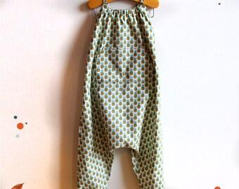 Summer jumpsuit, printed pineapple