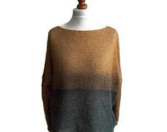 Vintage Italian Sweater, Mohair Sweater, Womens mohair sweater, Gift for her, Light sweater, Mohair Pullover, Italian Wool sweater, Chic