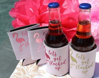 Lets Get Flocked Up Can Coolers - Various Color Options