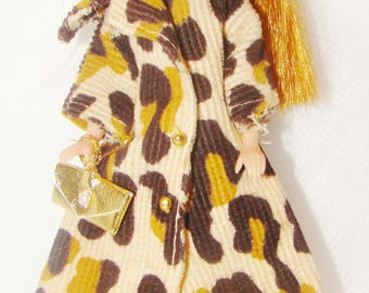 Glori Wearing Clone Animal Print Coat And Hat