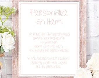 Personalize an item ~ Personalize an item in my shop