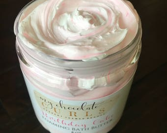 Whipped Soap Birthday Cake, Whipped Soap, Bath and Body, Soap, Skincare, Moisturizer, Shea Butter, Birthday Cake